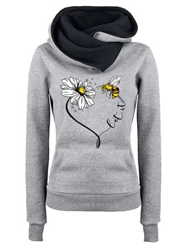 Ericdress Plant Regular Print Fall Long Sleeve Hoodie