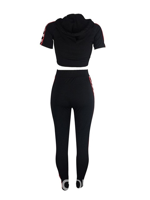 Ericdress Casual Color Block Pullover Sport Two Piece Sets