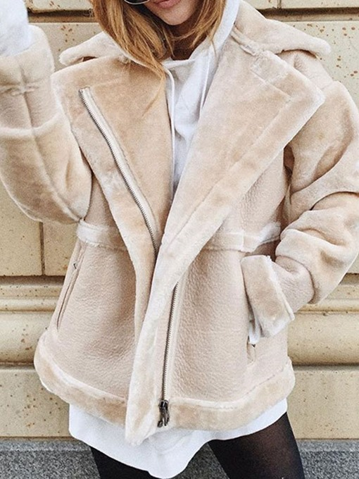 Ericdress Standard Plain Winter Loose Faux Fur Overcoat
