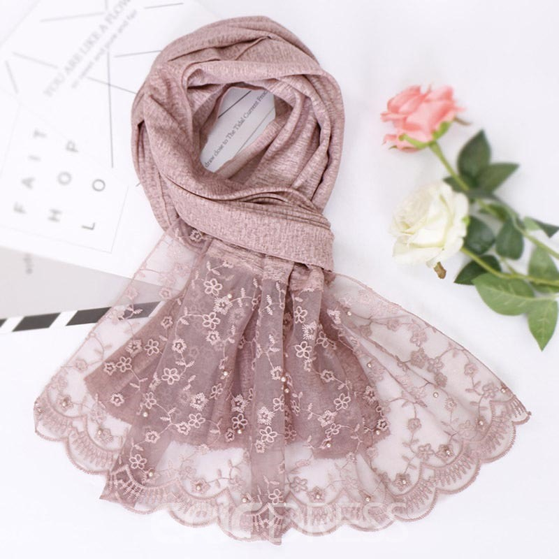 Ericdress Cotton Floral Rectangle Scarves
