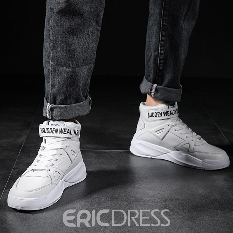 Ericdress Lace-Up Mid-Cut Upper Men's Work Sneakers