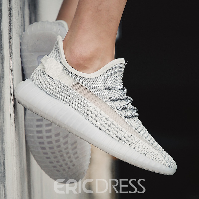 Ericdress Mesh Round Toe Low-Cut Upper Lace-Up Men's Sneakers