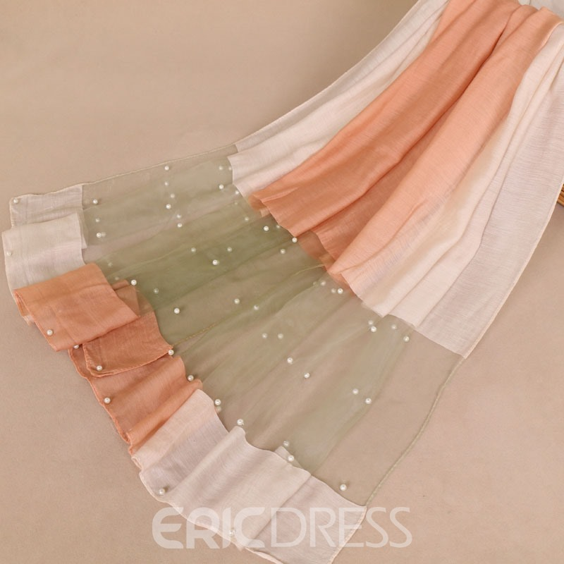 Ericdress Color Block Rectangle Scarves
