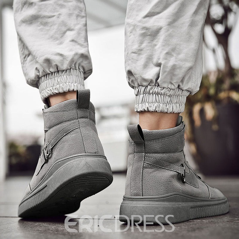 Ericdress Lace-Up Color Block High-Cut Upper Men's Skate Shoes