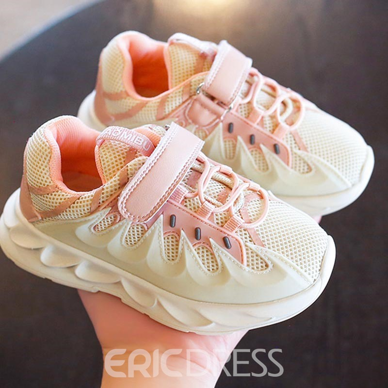 Ericdress Sweet Patchwork Round Toe Baby Sneakers