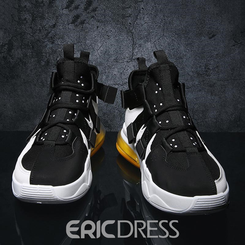 Ericdress Patchwork Lace-Up Mid-Cut Upper Men's Sneakers
