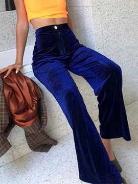 Ericdress Loose Lace-Up High Waist Full Length Casual Pants