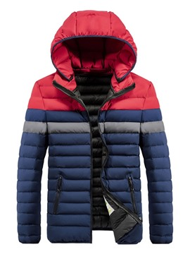 Ericdress Hooded Zipper Standard European Men's Down Jacket
