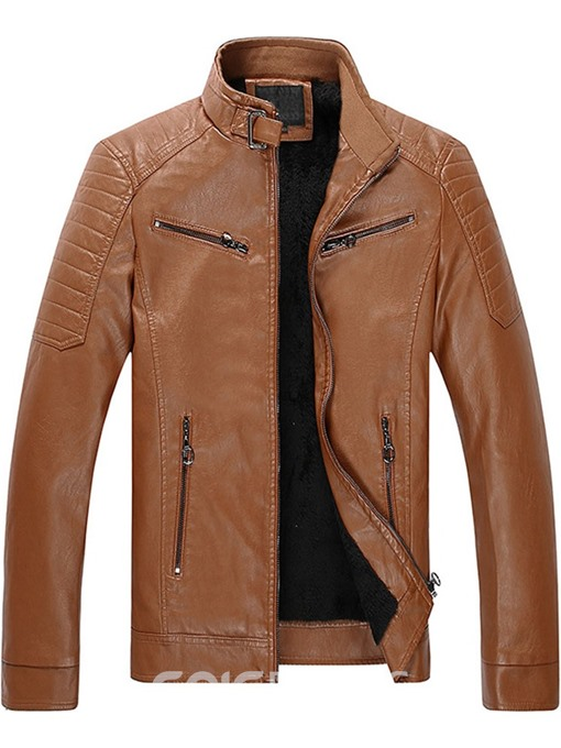 Ericdress Stand Collar Zipper European Men's Slim Jacket