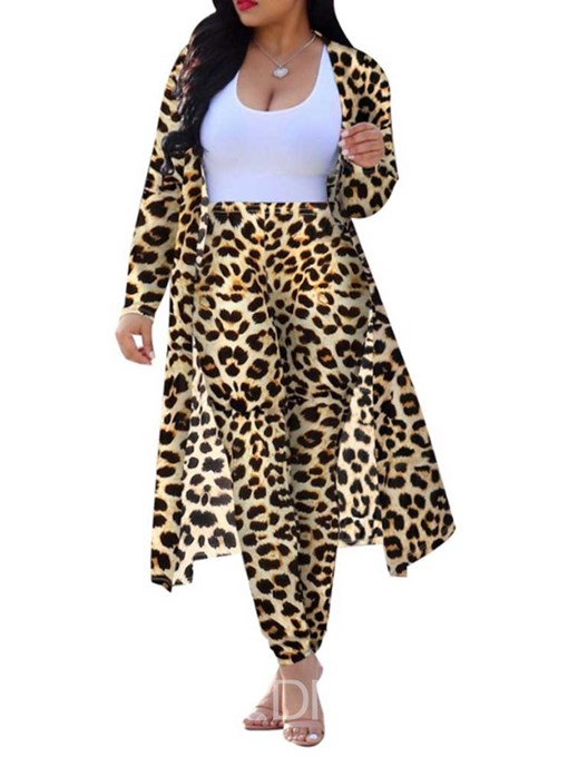 Ericdress Print Shirt Leopard Two Piece Sets