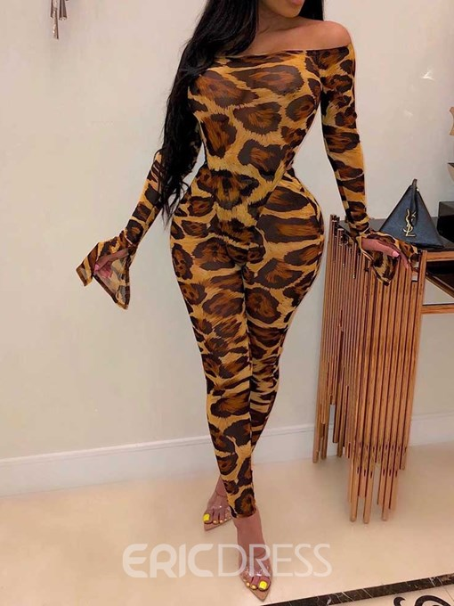 Ericdress Ankle Length Print Sexy Off Shoulder Two Piece Sets