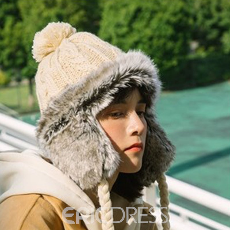 Ericdress Pompon Color Block Women's Hats