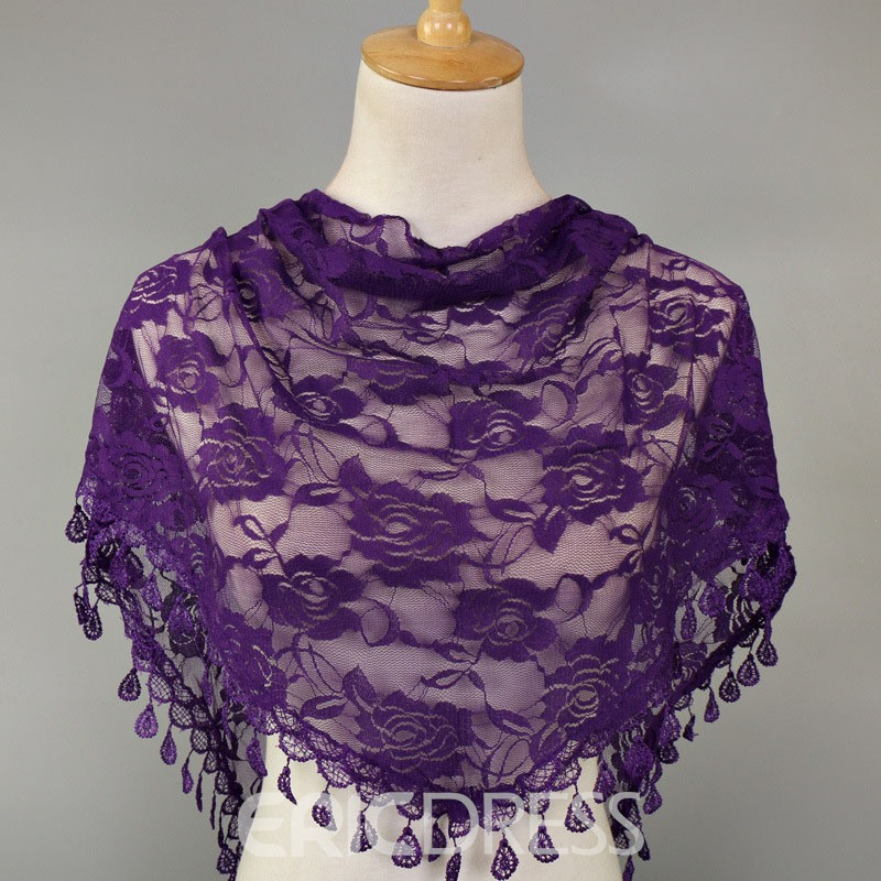 Ericdress Lace Ladylike Floral Scarves