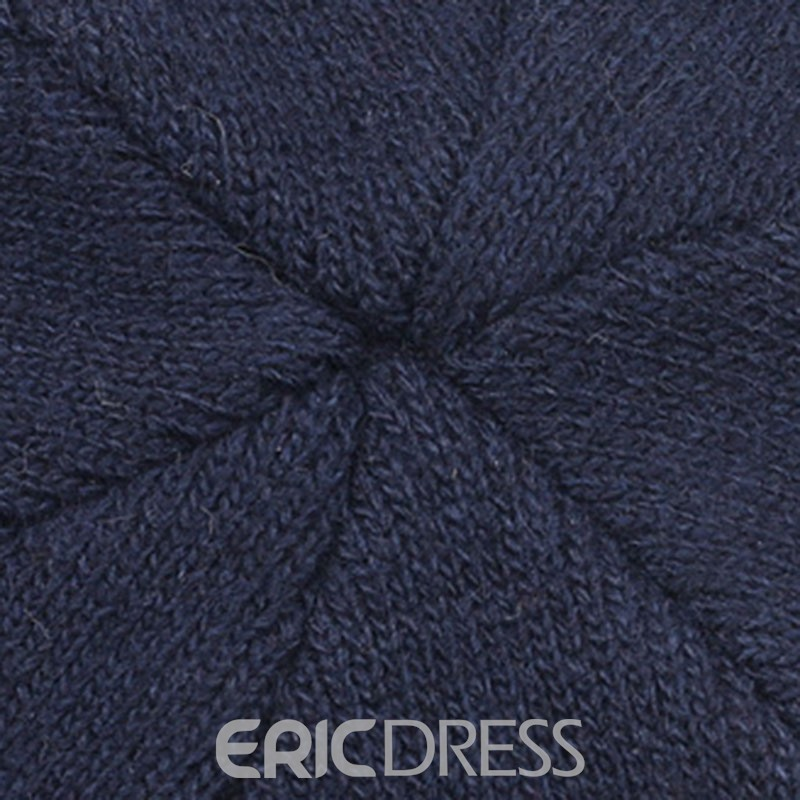 Ericdress Woolen Yarn Color Block Men's Knitted Hats