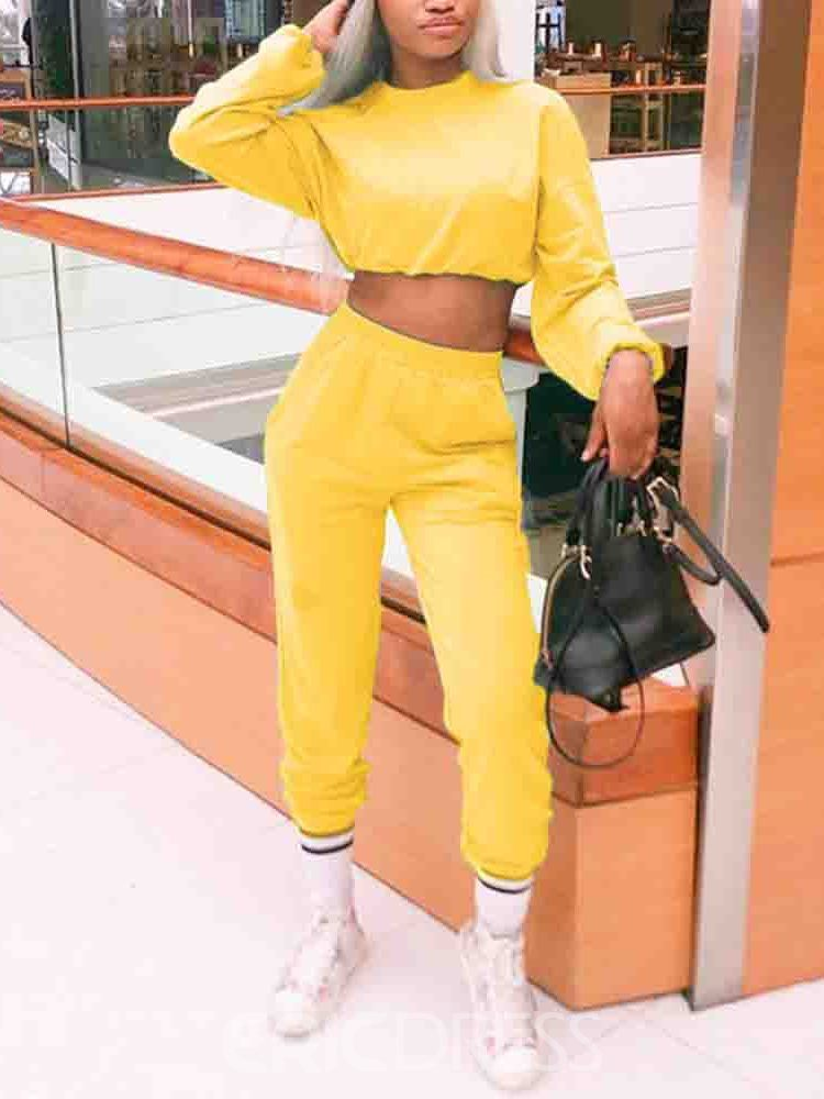 Ericdress Youthful Ankle Length Plain Pullover Two Piece Sets