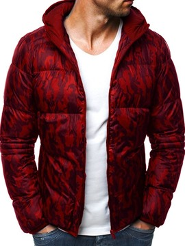 Ericdress Hooded Standard Patchwork Zipper Casual Men's Down Jacket