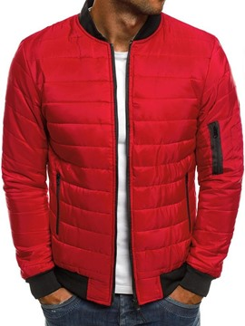 Ericdress Stand Collar Color Block Zipper Casual Men's Down Jacket