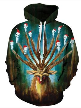 Ericdress Hand Painted Print Pullover Men's Hoodies