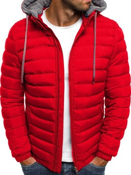 Ericdress Color Block Patchwork Standard Casual Zipper Men's Down Jacket