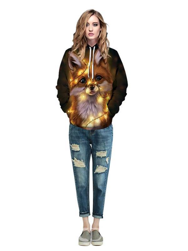 Ericdress Pullover Print Animal Spring Hoodies