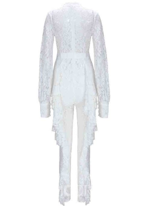 Ericdress Ankle Length Plain Lace See-Through Skinny Jumpsuit