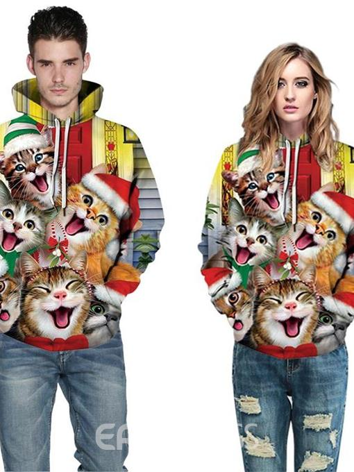 Ericdress Pullover 3D Animal Men's Hoodies