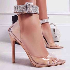 Ericdress Buckle Stiletto Heel Rhinestone Women's Pumps