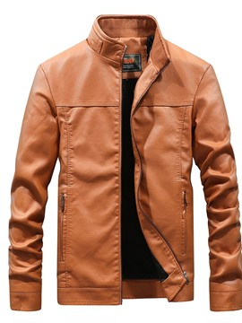 Ericdress Stand Collar Plain Zipper Men's Jacket