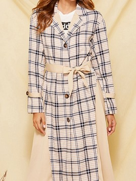 ericdress trench-coat ample à revers long et ample