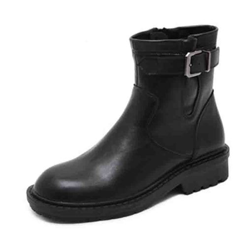 Ericdress Side Zipper Plain Round Toe Women's Boots