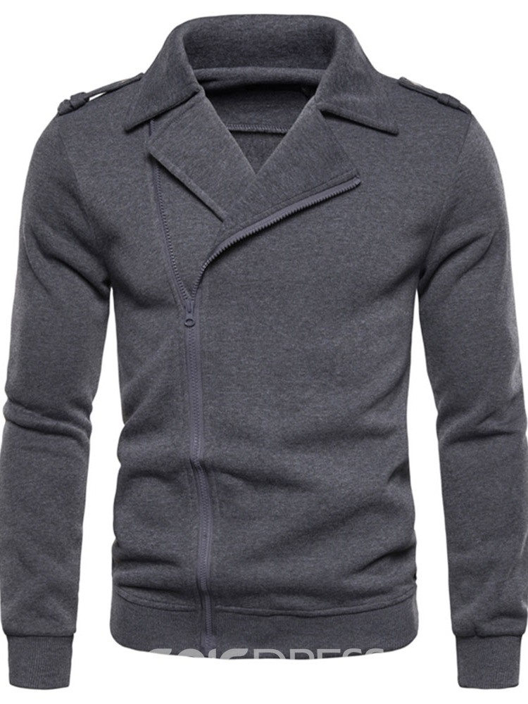 Ericdress Cardigan Plain Zipper Slim Men's Jackets