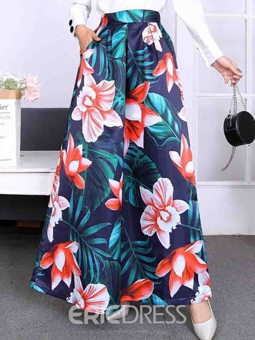 Ericdress Floor-Length Plant Expansion Skirt