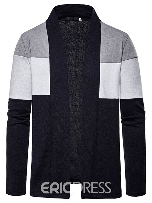 Ericdress Standard Patchwork Color Block Wrapped Casual Men's Sweater