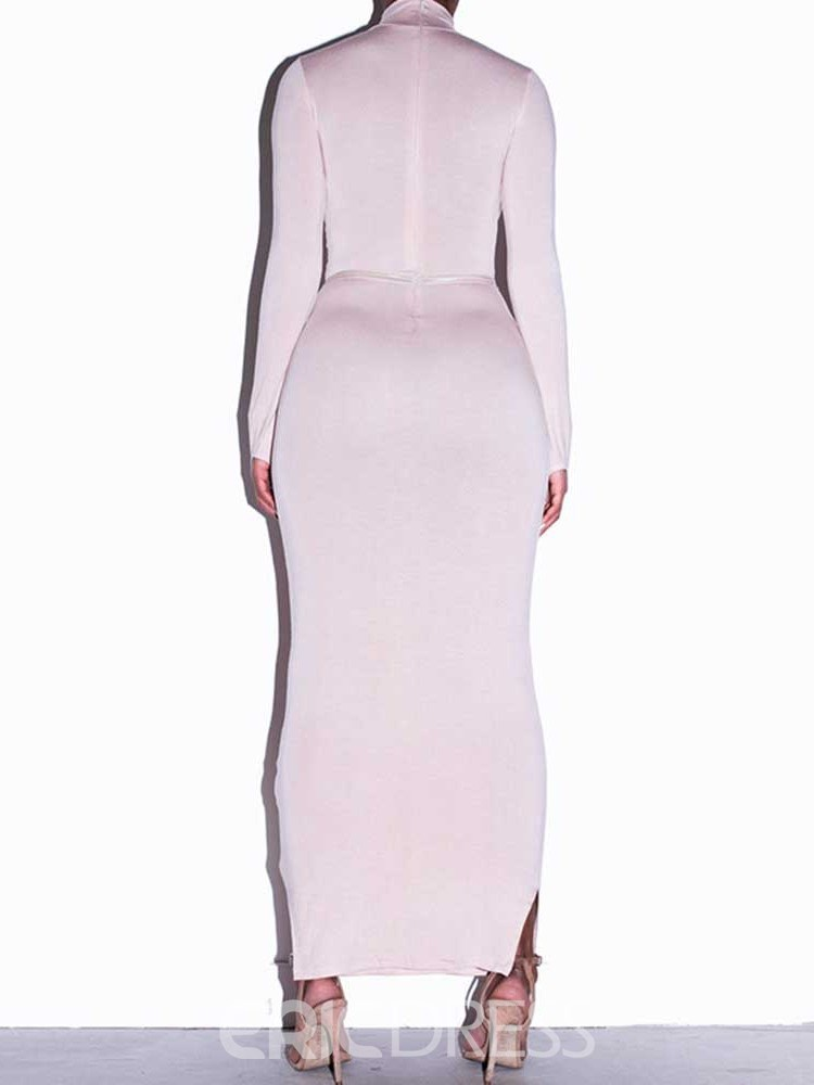 Ericdress Turtleneck Long Sleeve Ankle-Length Bodycon Mid Waist Dress