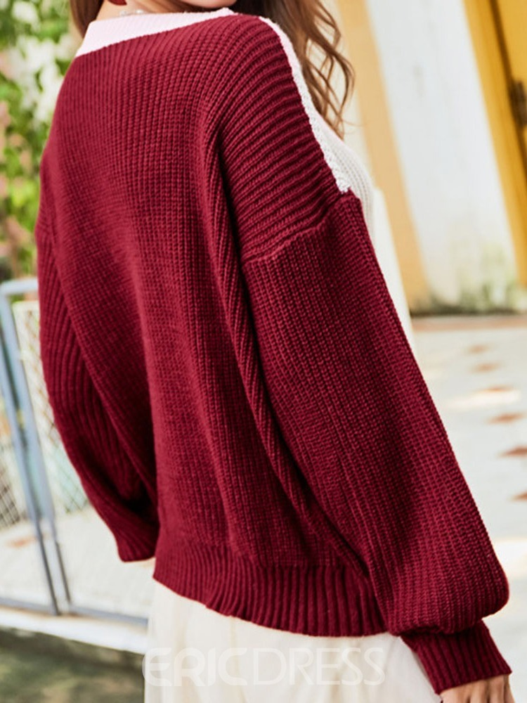 Ericdress Thin Loose Round Neck Sweater