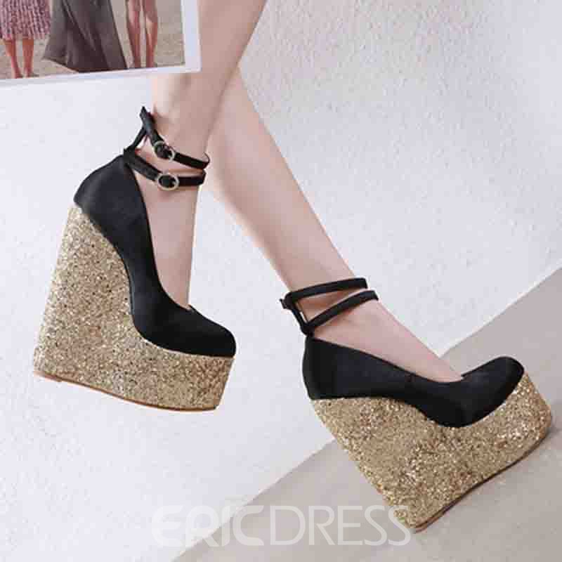 Ericdress Platform Buckle Round Toe Women's Pumps