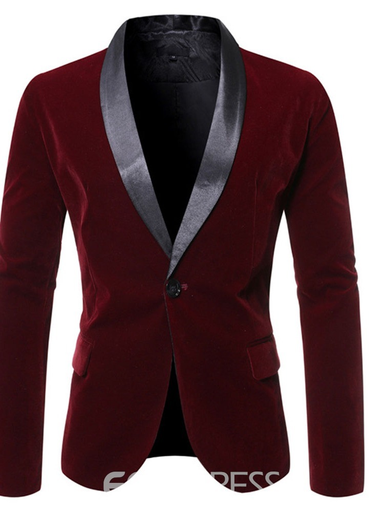 Ericdress One Button Slim Button Leisure Men's Blazers
