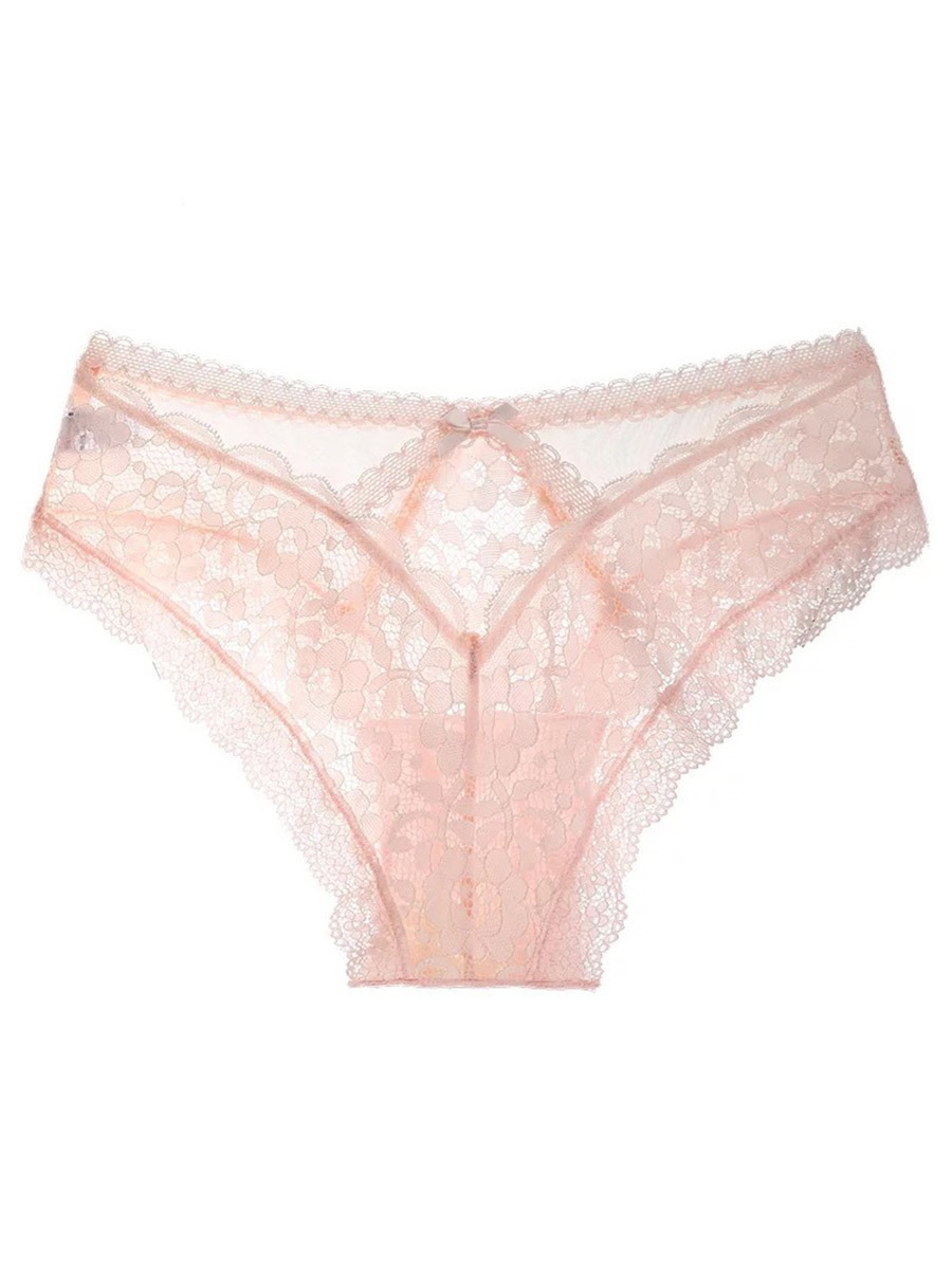 Ericdress Sexy Lace Floral Briefs Low Waist Panties