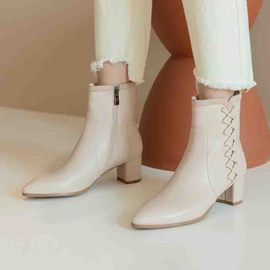 Ericdress Chunky Heel Side Zipper Pointed Toe Women's Boots