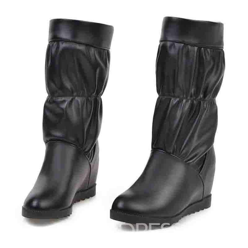 ericdress bottes de sport unies à bouts ronds