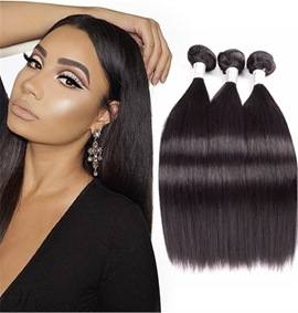 Ericdress Grade 10A Brazilian Virgin Straight Human Hair Bundles Straight Hair Extensions 300g