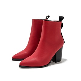 Ericdress PU Chunky Heel Pointed Toe Women's Boots