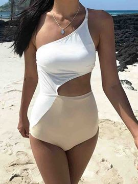Ericdress One Piece Sexy One Shoulder Swimwear