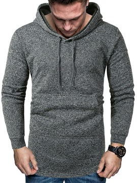 Ericdress Pocket Pullover Plain Men's Hoodies