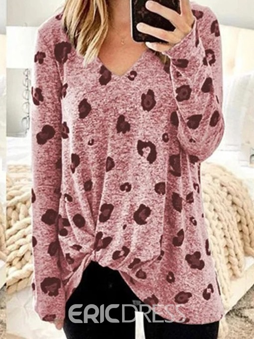 Ericdress Long Sleeve V-Neck Mid-Length Casual Fall T-Shirt