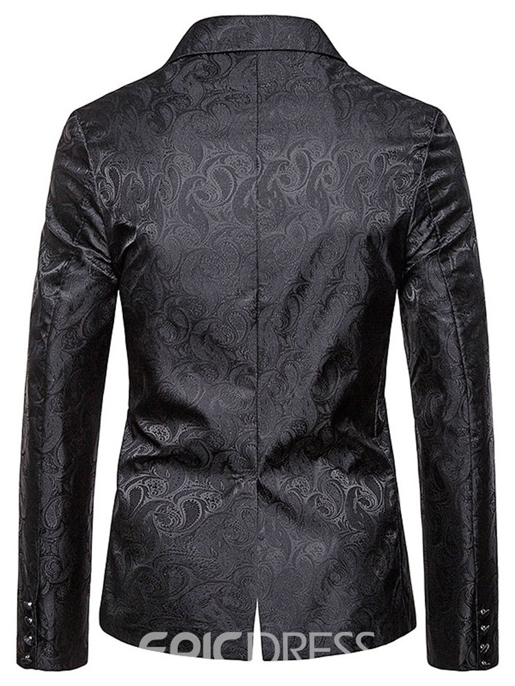 Ericdress Single-Breasted Casual Notched Lapel Men's Leisure Blazers