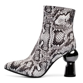 Ericdress Serpentine Side Zipper Pointed Toe Color Block Women's Boots