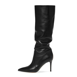 Ericdress Slip-On Pointed Toe Women's Calf High Boots
