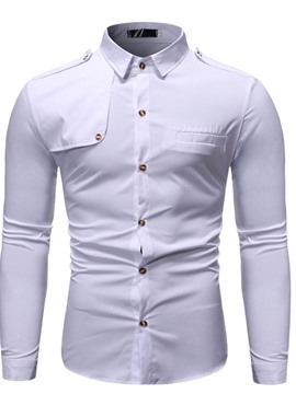 Ericdress Casual Lapel Button Single-Breasted Men's Shirt