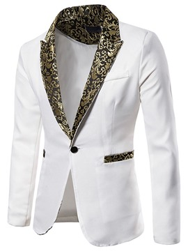 Ericdress Slim Casual One Button Men's Leisure Blazers